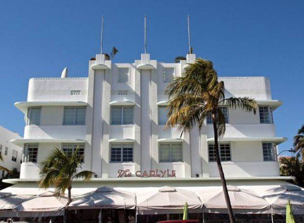 The Carlyle Art Deco buildings in Miami