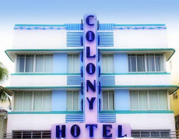 The Colony Art Deco hotels Miami