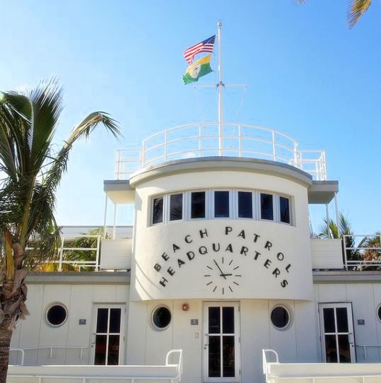 Beach Patrol Headquarters Art Deco Miami