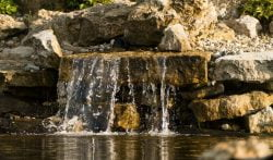 Rock Features for Backyard Ponds
