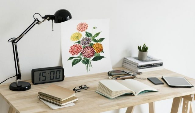 home office small workspace