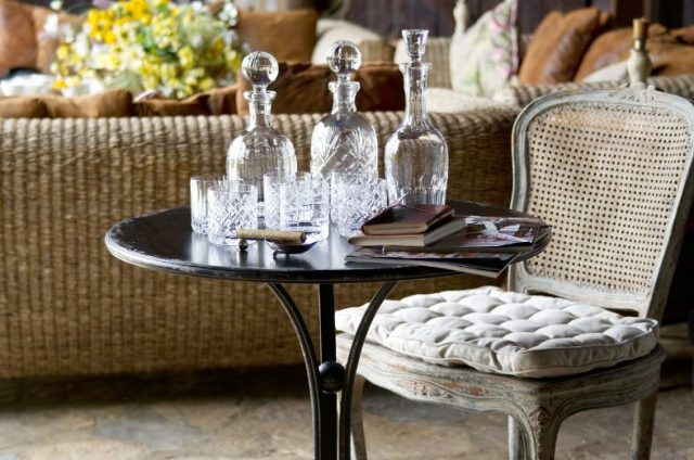 mediterranean style side table