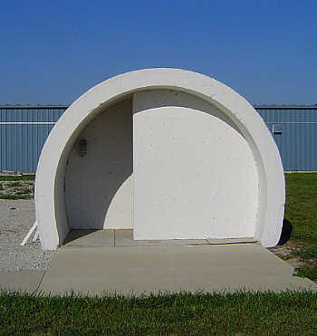 Easy to reach tornado shelter